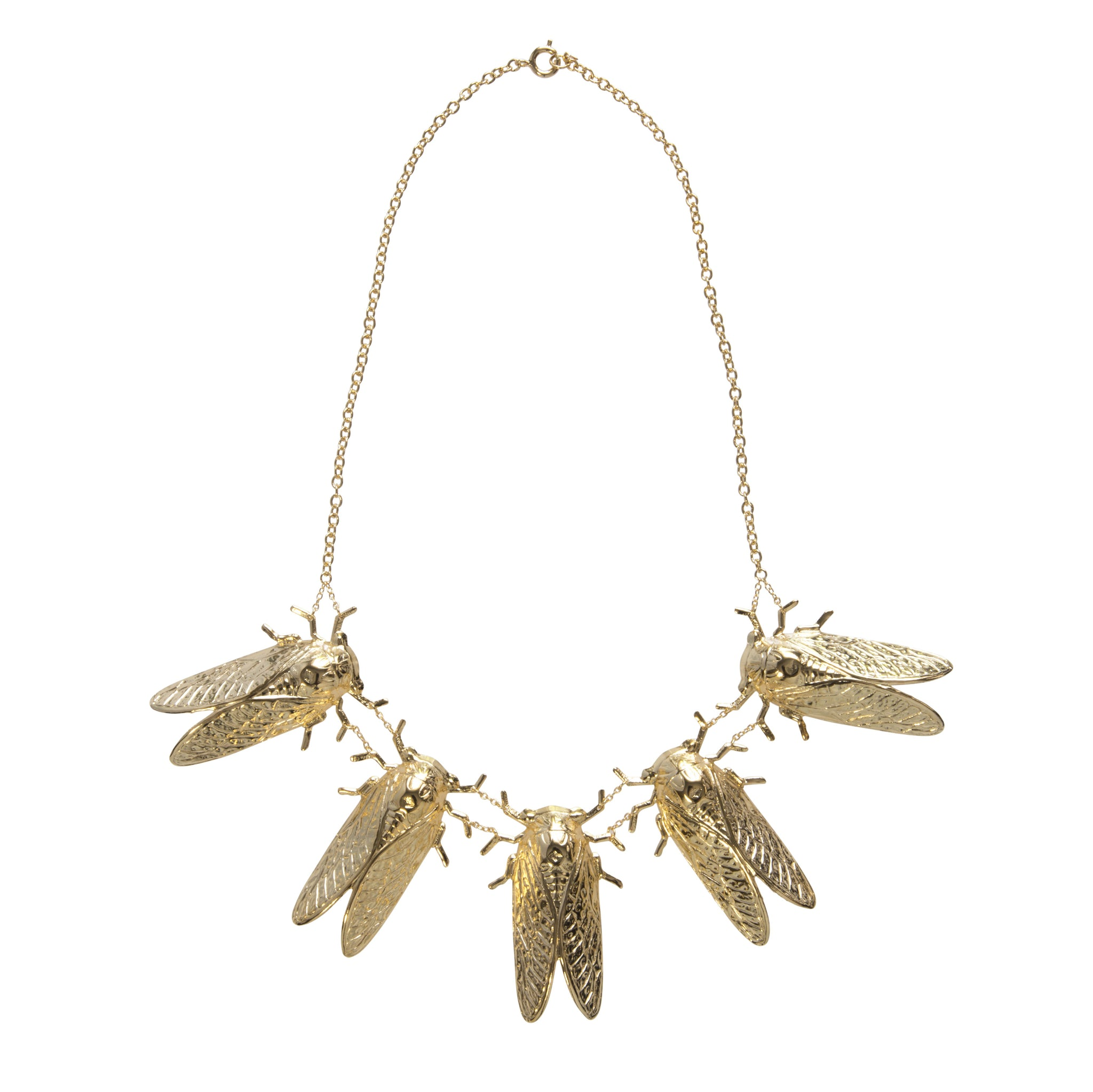 Goldbug Love Train Necklace