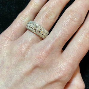 1.03ct Diamond Milgrain 14K Gold Anniversary Band