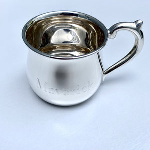 Bulged Sterling Silver Baby Cup