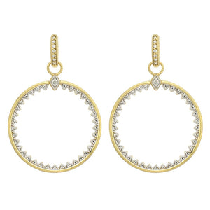 JudeFrances Lisse Open Circle Half Kite Earring Charms