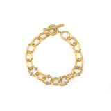 JudeFrances Lisse Pave Rondell Loopy Chain Toggle Bracelet