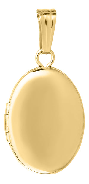 Child's 14K Yellow Gold Oval Locket Necklace