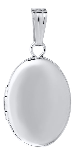 Sterling Silver Baby Oval Locket Necklace