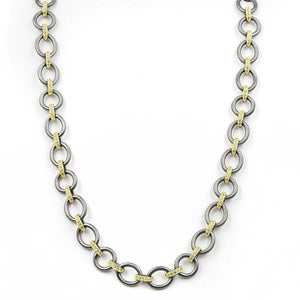 Freida Rothman Chunky Mixed Metal Link Necklace