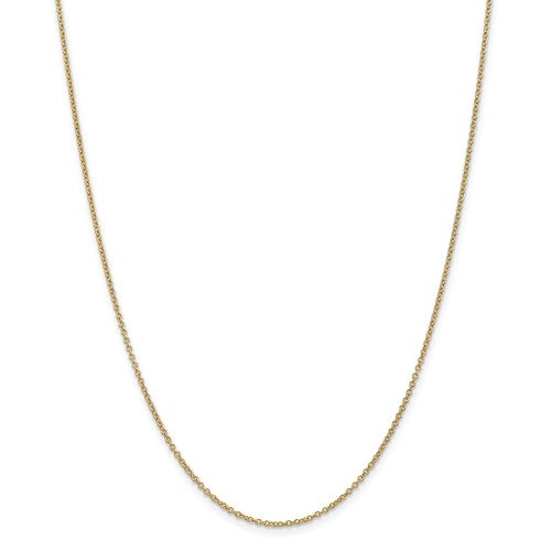 14K Gold 1.4mm Cable Chain Necklace