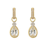 JudeFrances Provence Pear Stone Earring Charms