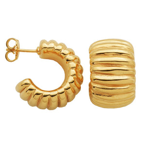 Gold-Plated Sterling Silver Electroform Earrings