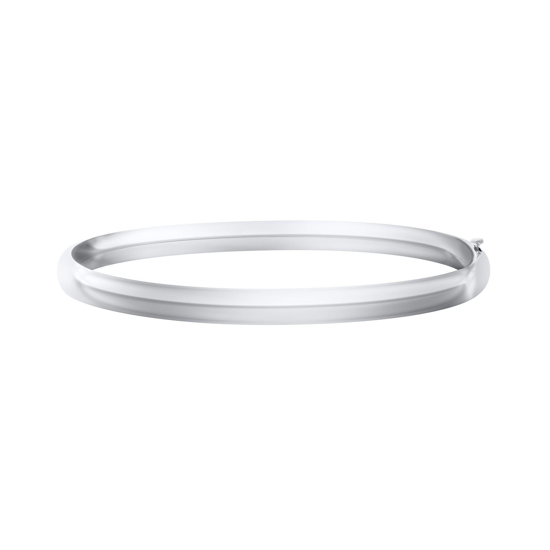 Teen Sterling Silver Plain 5mm Bangle