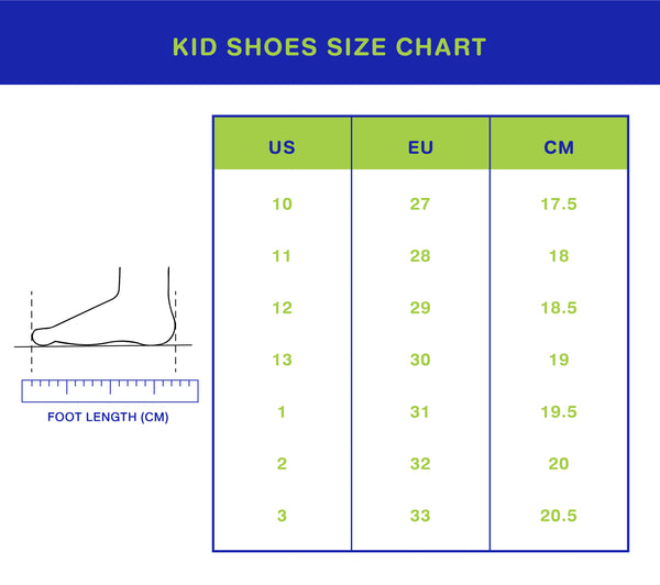 KId's Shoes Size chart | Jellybunnymy.com