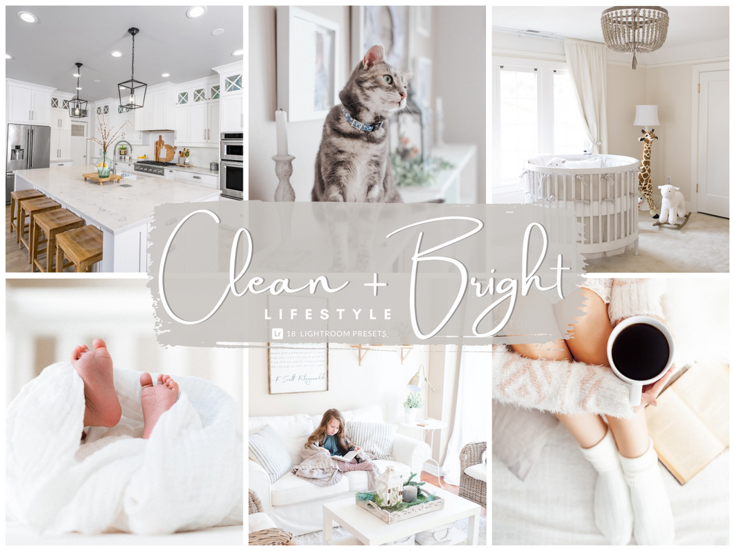 Clean + Bright Lifestyle Lightroom Presets