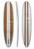 8'6 Wood Grain Stripes Mini Malibu Surfboard