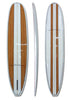 9'6 Wood Stripe Design Longboard