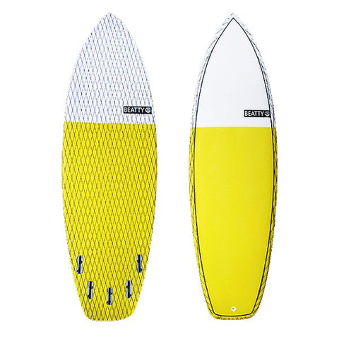 7'2 Yellow Clyde Beatty Fish Surfboard