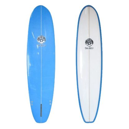 7'6  Blue Clyde Beatty Surfboard Mal