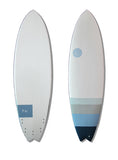 KU Epoxy Swallow Tail Fish Surfboard