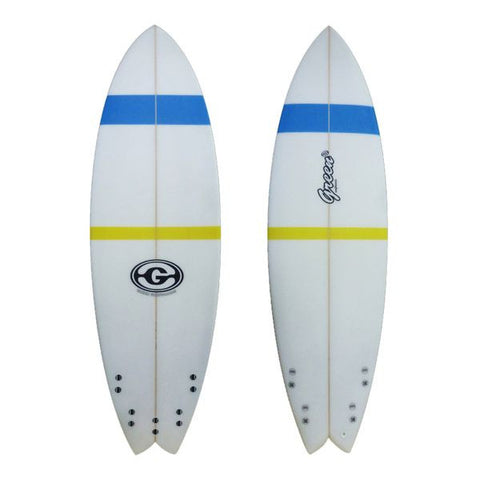 6'2 Fish Surfboard Blue Yellow