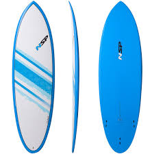 NSP 04 Elements 6'0 Blue Hybrid Shortboard