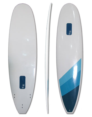 7'2 Epoxy Blue White Minimal Surfboard