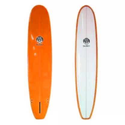 7'6 Orange Clyde Beatty Surfboard Mal
