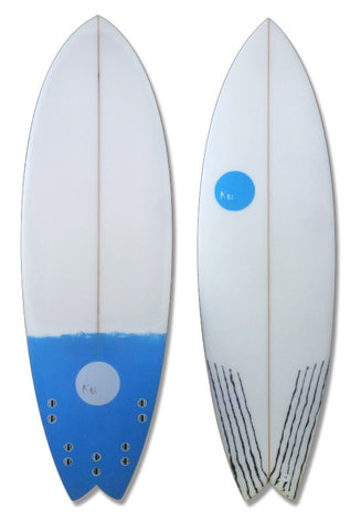 KU Swallow Tail Fish Surfboard