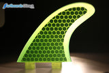 Coloured Honeycomb Surfboard Fins