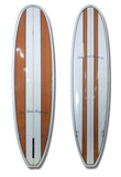 7'2 Wood Stripes Minimal Surfboard