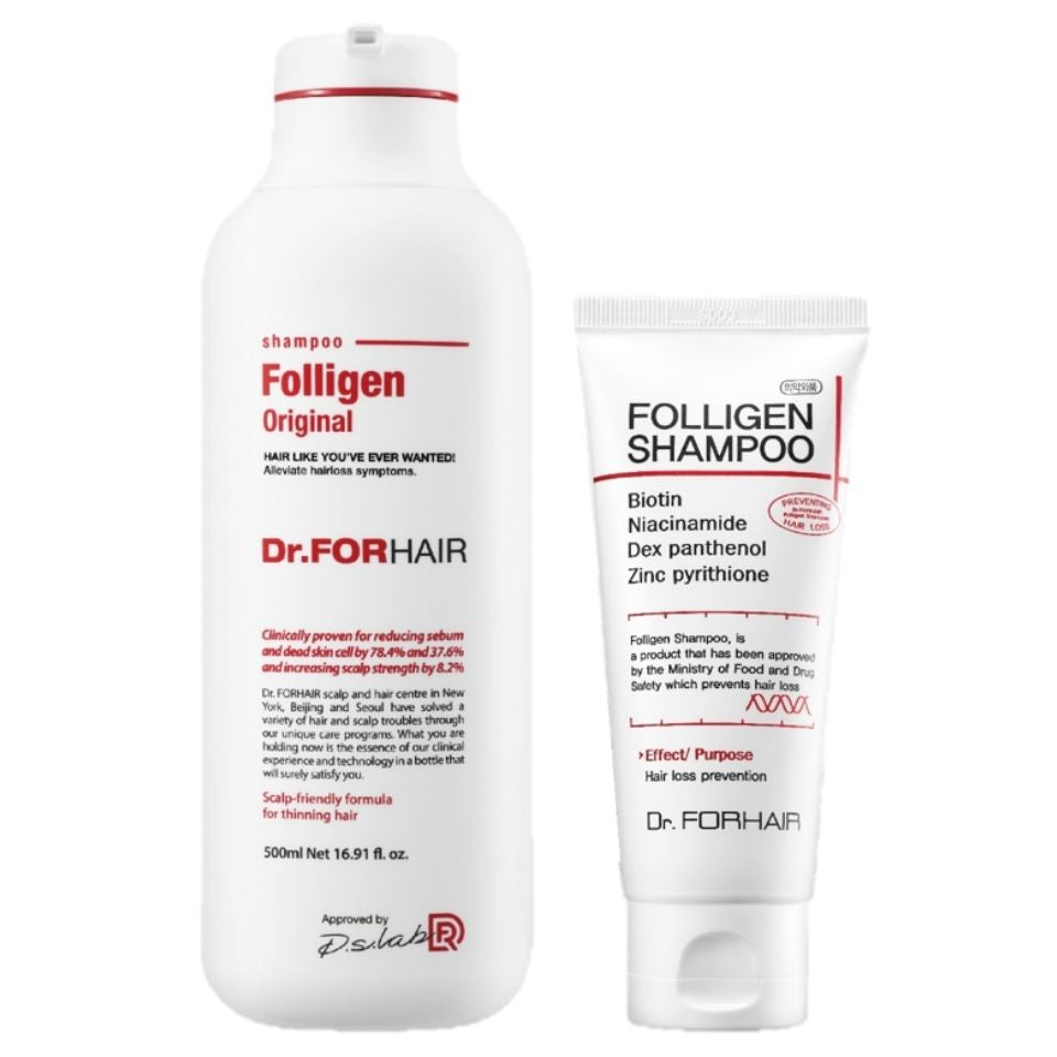 Dr.FORHAIR Folligen Shampoo 500ml + Free 100ml