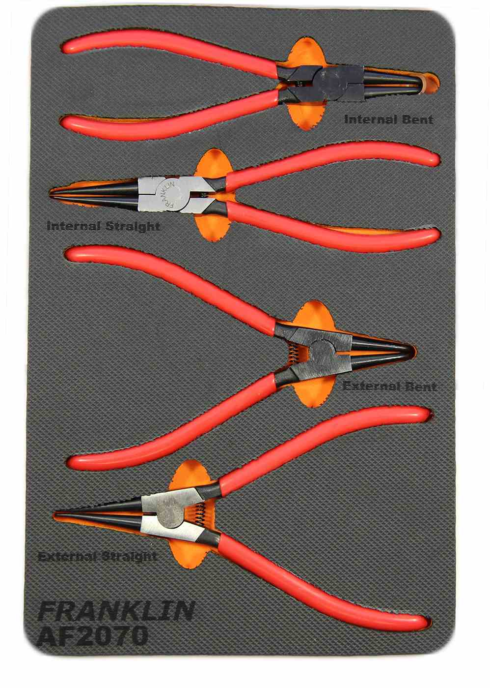 Franklin 4 pce Int/Ext Circlip Plier Set