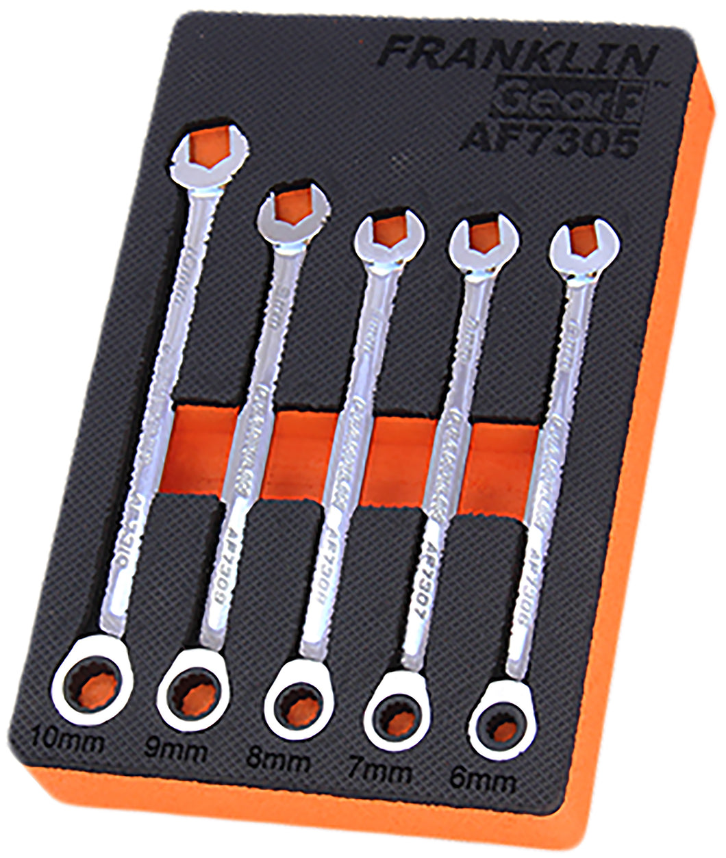 Gear F Grip 4+ 5 pce 12 pt Combination Ratchet Spanner Set