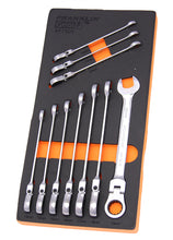 Load image into Gallery viewer, Gear F 10 pce 12 pt Flexi Ratchet Combination Spanner Set