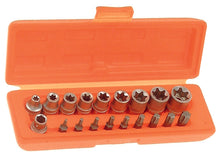 "Load image into Gallery viewer, Franklin 18 pce Star Bit and Socket Set 3/8"" dr"