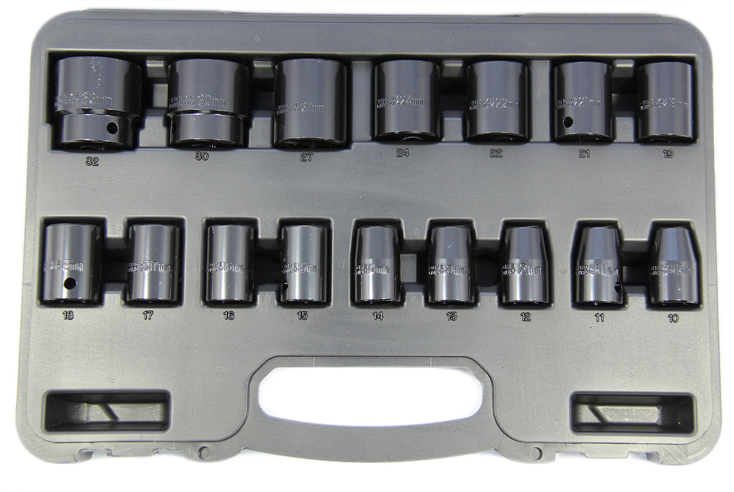 Franklin 16 pce 6 pt Impact Socket Set 1/2