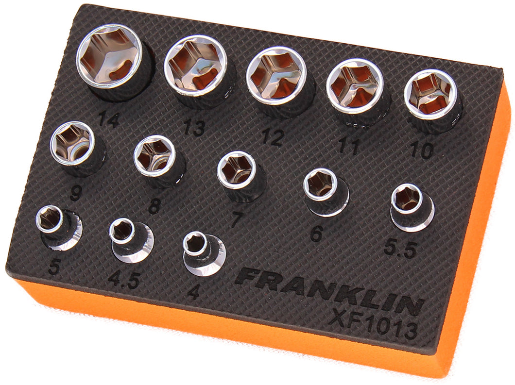 Franklin XF 13 pce 6 pt Socket Set 1/4
