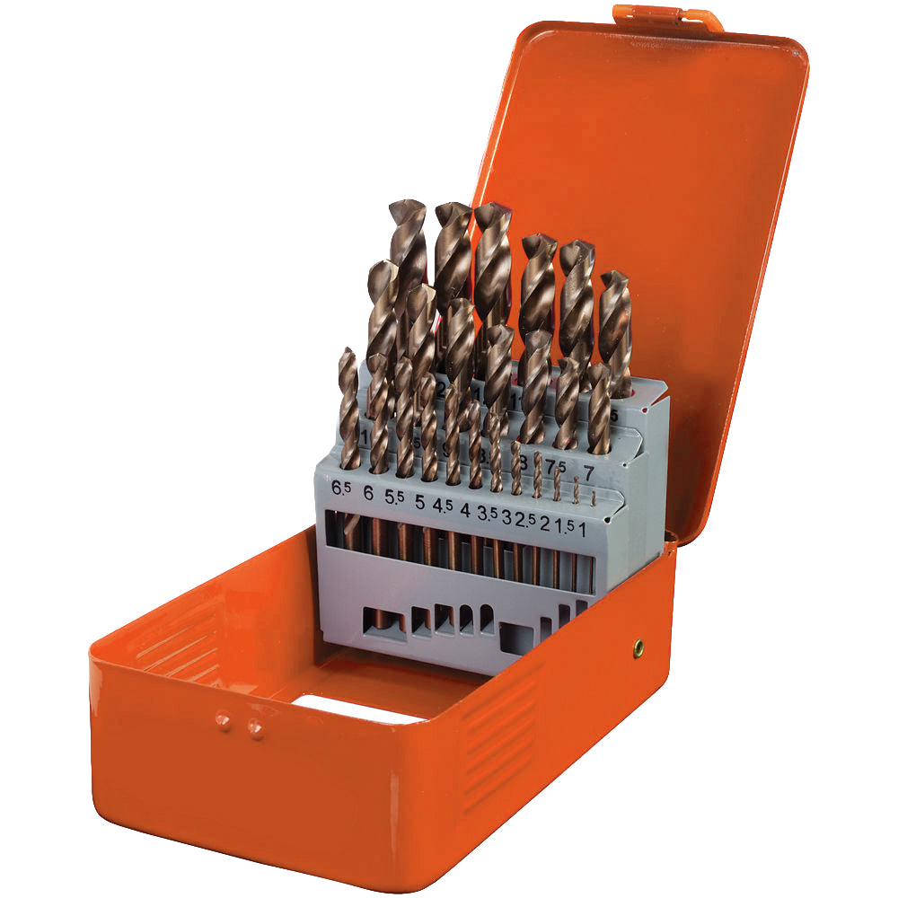Franklin 19 pce HSS-CO Cobalt Drill Set