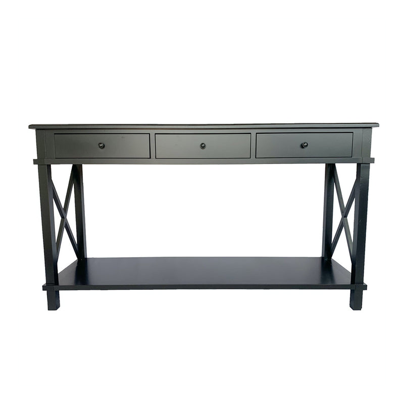 Black 3 Drawer Console