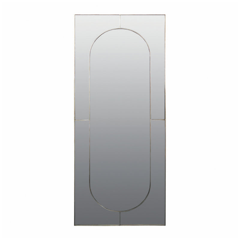 Brass Rectangular Mirror