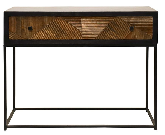black and wood console