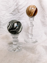 Load image into Gallery viewer, Vintage Glass Candlestick Holder - Short