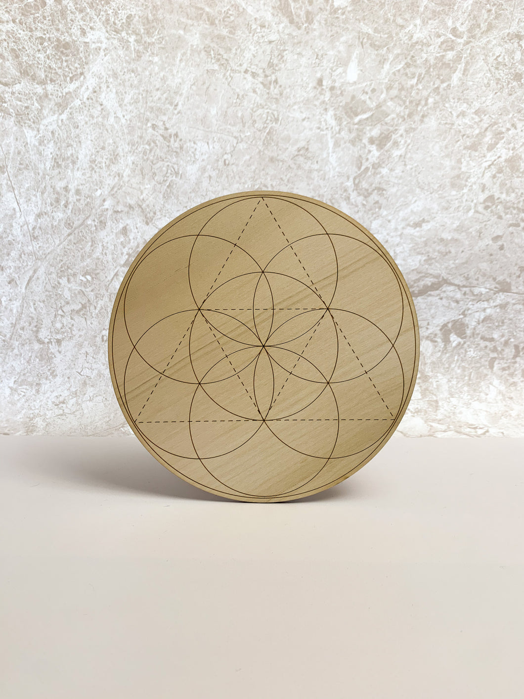Seed of Life Crystal Grid Divination Board by Yiska Designs