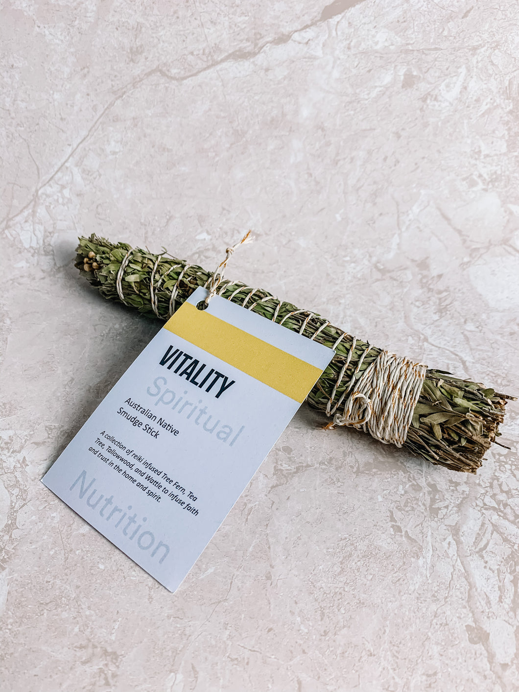 Australian Native Smudge Stick - Vitality  By Spiritual Nutrition