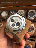 AP Royal Oak Chrono 26320ST  White Dial Super Cone - only best watches