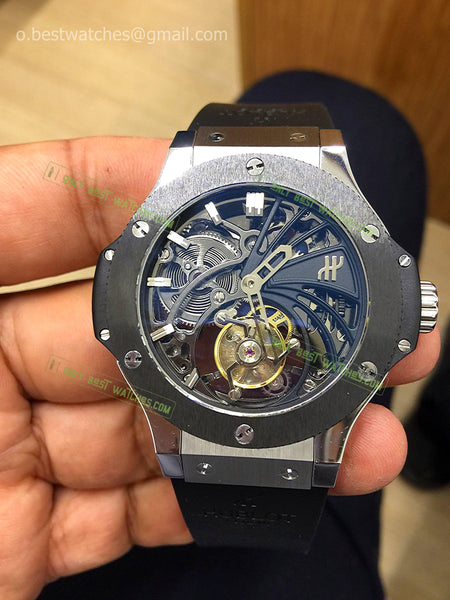 Hublot Big Bang Ceramic Bezel Skeleton Tourbillon Best Edition 1/1 - only best watches