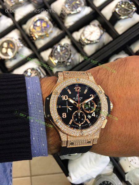 Hublot Big Bang Diamonds Case 44mm Chrono Best Edition - only best watches