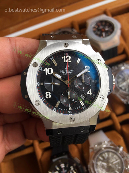 Hublot Big Bang SS Case Ceramic Bezel 44mm Chrono Best Edition - only best watches