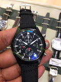 İWC Pilot Chrono Top Gun  SS Black Dial Black Nylon Strap Super Clone - only best watches