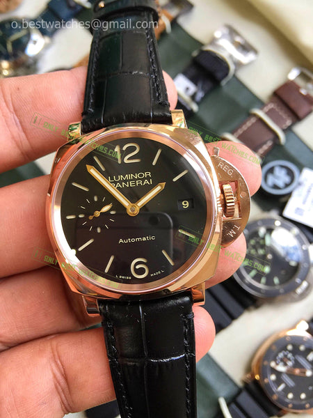 Panerai Luminor Black Leather  Bracelet Best Edition 1/1 - only best watches