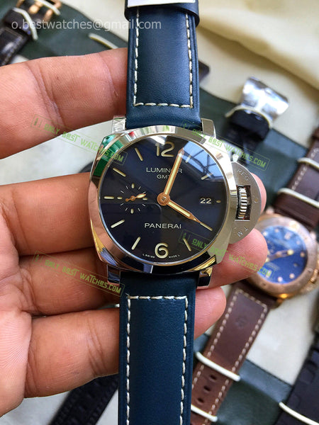 Panerai Luminor Blue Dial and Blue Leather  Bracelet Best Edition 1/1 - only best watches