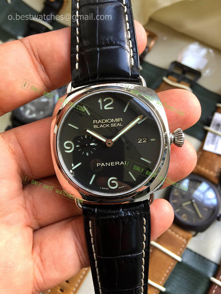 Panerai PAM318 Black Dial and Black Leather  Bracelet Best Edition 1/1 - only best watches