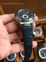 Nautilus 5980 Chronograph Complicated Black  Dial Leather  Bracelet  Best Edition 1/1 - only best watches