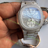 Nautilus 5980  chronograph Full Pave Diamonds  Case Best Edition 1/1 - only best watches